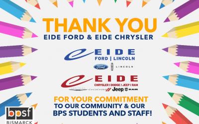Eide Ford/Eide Chrysler donates over $22k to BPSF, develops mini-grant program for teachers