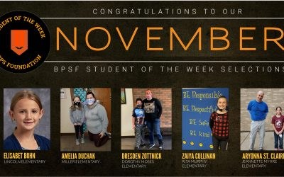 BPSF recognizes Students of the Week for the month of November