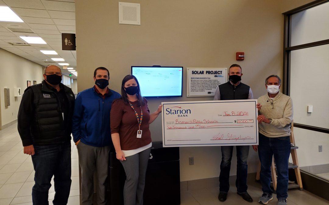 Starion Bank Donation Helps Fund Bismarck Career Academy's New Solar Array