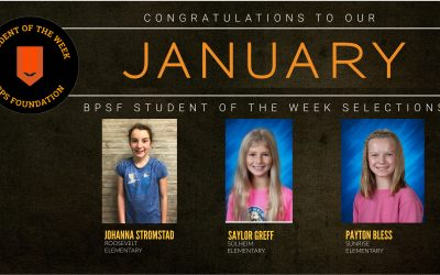 BPSF recognizes Students of the Week for the month of January
