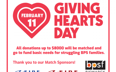 Double your donation during Giving Hearts Day and help local BPS families in need!
