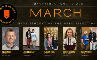 BPSF recognizes the Students of the Week awardees for the month of March
